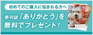 ワンコ情報満載!季刊誌「ありがとう」を無料でプレゼント!